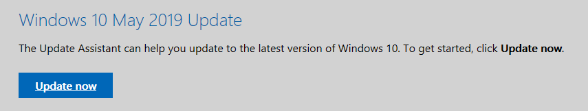 Windows 10 1803 End Service Windows 10 May 2019 Update Now